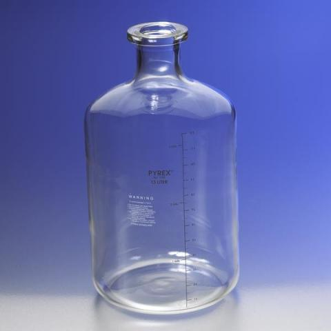 Photo of Corning 1596-13L PYREX® 13LT Solution Carboy with Tooled Neck and Graduations