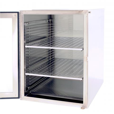 Photo of Large Stainless Steel Desiccating Cabinet. Boekel