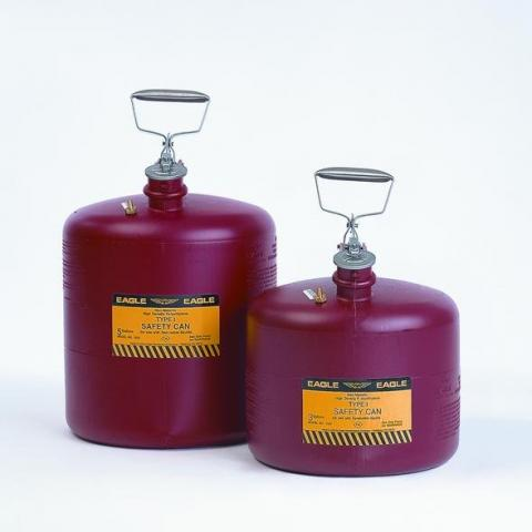 Photo of Type-I HDPE Safety Cans. Eagle