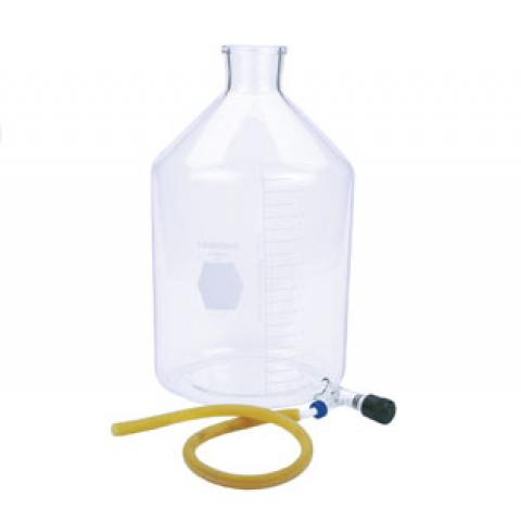 Photo of Kimble 14612F KIMAX Reservoir Bottle with Bottom Valve Outlet