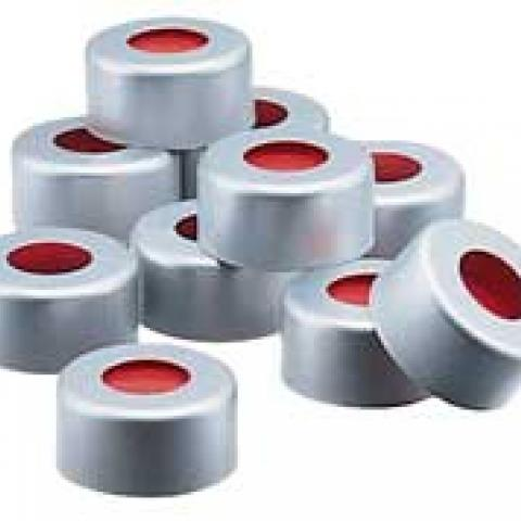 Photo of Kimble N73823-13 One Piece 13mm Aluminum Seals with PTFE-Faced Red Rubber Liner