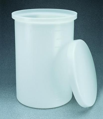 Photo of Nalgene 11100 Heavy-Duty Graduated Cylindrical Tanks with Cover-LLDPE
