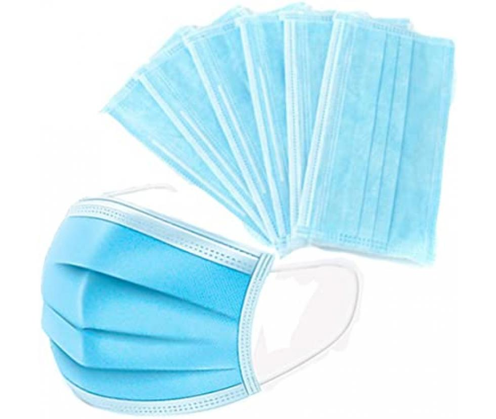 Photo of Bada Medical Mask01-D Disposable Face Masks, 3-Ply Earloop Design.